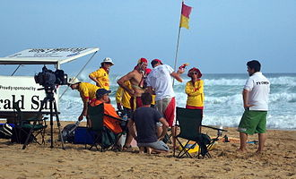 Surf Patrol - Filming for the second series at Gunnamatta Surf Beach, Victoria.
