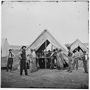 Sutler - Sutler's tent at the Siege of Petersburg during the American Civil War