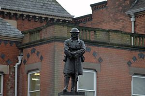 Sutton Coldfield Town Hall - The war memorial to those who died in World War I outside of the town hall. It was unveiled on 1 November 1922.