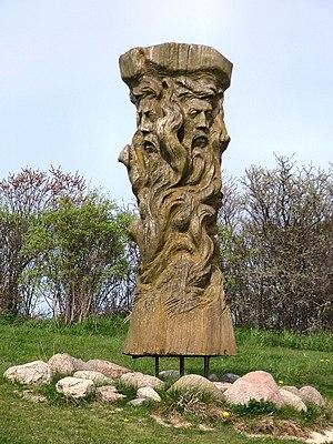 Jaromarsburg - The Svantovit (replica) statue