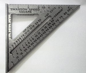 Speed square - A Swanson® Speed® Square.
