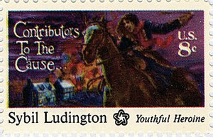Sybil Ludington - Sybil Ludington commemorative stamp