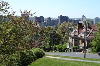 Syracuse, New York - A view of Downtown Syracuse from University Hill