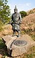 Szabolcs earthwork, sculpture of chieftain Szabolcs.jpg