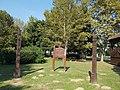 Szekely Memorial Park, kopjafas and gate, 2016 Bonyhad.jpg