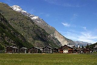 Täsch Municipality in Switzerland in Valais