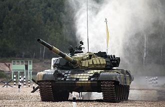 Military of Abkhazia - Image: T 72B Tank Biathlon 14part 1 01