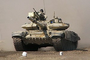 English: T-90 tank of the Indian army.