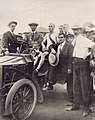 T.J. Hicks of Boston, winner of Marathon race, seated in a car after the race end at the 1904 Olympics.jpg