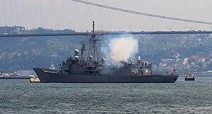 USS John A. Moore (FFG-19) - TCG Gediz (F-495).