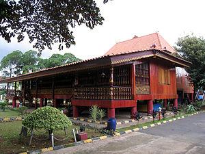 Malay houses - Rumah Limas, a traditional Palembang house.