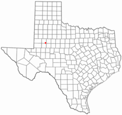 Location of Ackerly, Texas