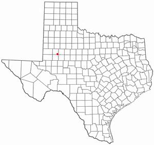 Ackerly, Texas - Image: TX Map doton Ackerly