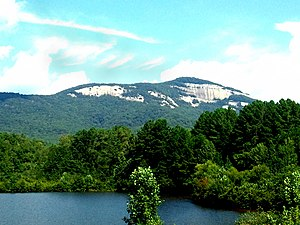 Table Rock State Park (South Carolina) - Table Rock Mountain, as seen from Visitors' Center
