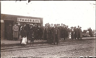 Palmerston North–Gisborne Line - Tahoraiti railway station in 1912, south of Dannevirke.