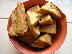 Fried tofu for cooking Bahasa Indonesia: Tahu ...