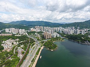 Tai Po District - Day view of Tai Po in the Tai Po District (2017)