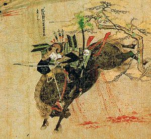 Takezaki Suenaga - Suenaga from the Mōko Shūrai Ekotoba scroll
