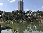 Takueichi Pond and Chozenkyo Pavillon in Shukkei Garden 2.jpg