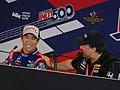 Takuma Sato and Michael Andretti 2017 Indianapolis 500 press conference.jpg