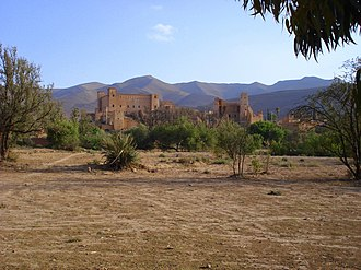 Taliouine - View of the kasbah of Taliouine