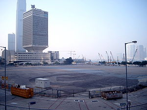 Tamar, Hong Kong - Tamar site in 2005, PLA headquarters in background.