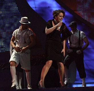 North Macedonia in the Eurovision Song Contest - Image: Tamara Todevska ESC 2008
