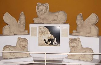 Tamassos - Lions from a royal tomb, Nicosia museum