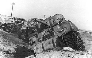 Suez Crisis - Image: Tanks Destroyed Sinai