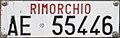 Targa automobilistica Italia 1985 AE 55446 rimorchio.jpg