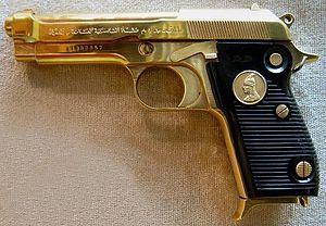 Beretta M1951 - Gold-plated Iraqi Tariq presentation pistol