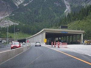 Tauern Road Tunnel - Construction work, August 2010