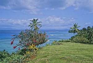 Taveuni - Coastal view towards Matagi Island, 2010