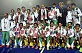Team Pakistan won Gold Medal in the Men's Hockey, at the 12th South Asian Games-2016, in Guwahati on February 12, 2016.jpg
