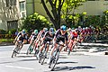 Team Sky leads the field on the finishing laps of Stage 1 in Sacramento (34865763721).jpg