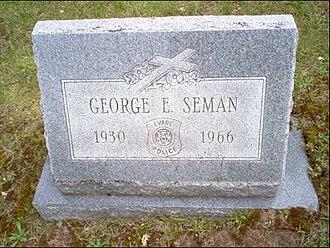George Seman - Gravesite of George Edward (Ted) Seman in Evart, Michigan