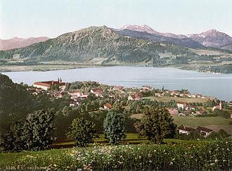 Tegernsee - Tegernsee – historic postcard from 1900