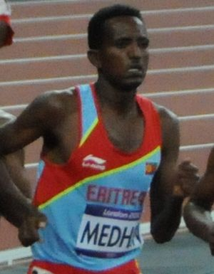 Teklemariam Medhin - Teklemariam Medhin at the men's 10000m final - 2012 Summer Olympic Games