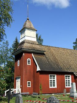 Temmes Church (1767), designed and built by Antti Louet.