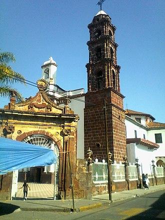 Purépero de Echaíz - Image: Templo de San Juan Bautista purepero