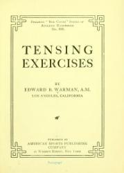 Edward Barrett Warman: Tensing Exercises