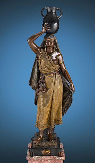 Goldscheider ceramics - Sakka-ha, Terracotta Figure by Goldscheider, circa 1895.