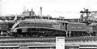 LNER Class A4 4468 Mallard - Mallard with the number 'E22' during the Locomotive exchange of 1948