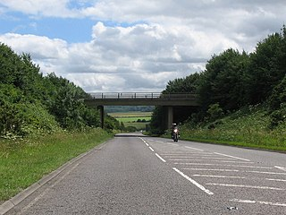 A350 road road in England