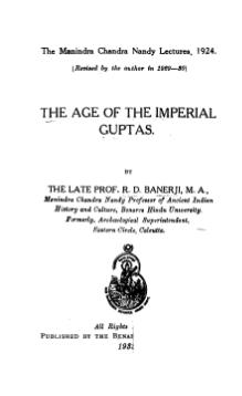 The Age of the Imperial Guptas.djvu