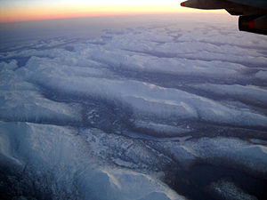 Aleutian Islands - The Aleutian Islands from 32,000 feet.