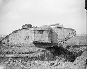Anti-tank warfare - A British heavy tank of World War One
