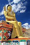 The Buddha's statue at Likir Gompa (10034378884).jpg