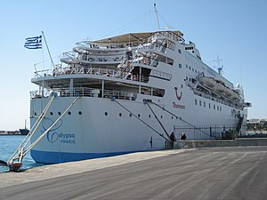 The Calypso cruise ship at Rhodes, Greece 2008.jpeg