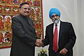 The Chief Minister of Chhattisgarh, Dr. Raman Singh meeting with the Deputy Chairman, Planning Commission, Shri Montek Singh Ahluwalia to finalize Annual Plan 2007-08 of the State, in New Delhi on March 07, 2007.jpg
